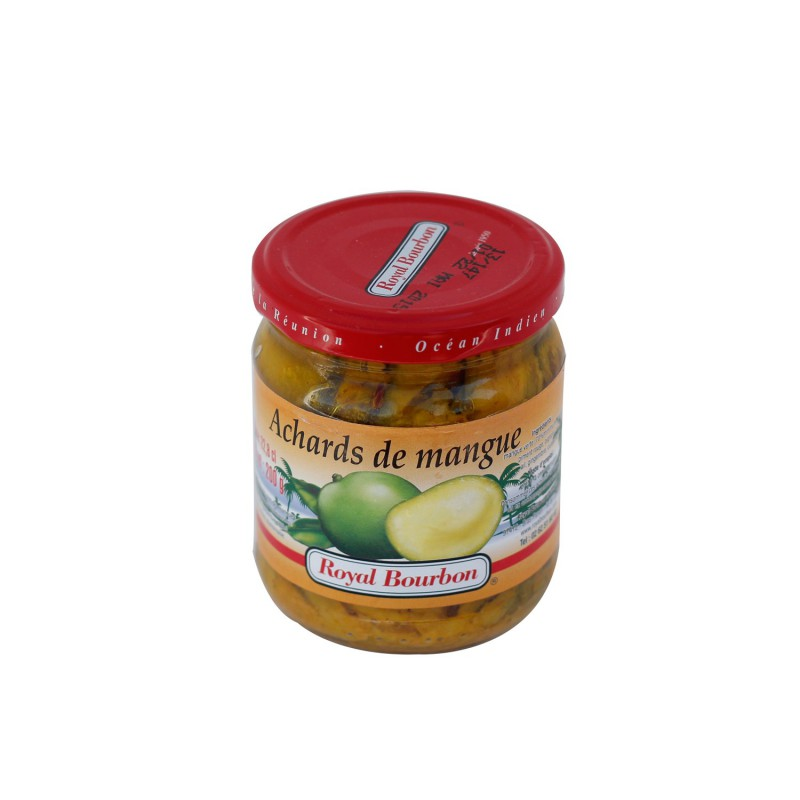 Achards de mangue. Royal bourbon. 200g