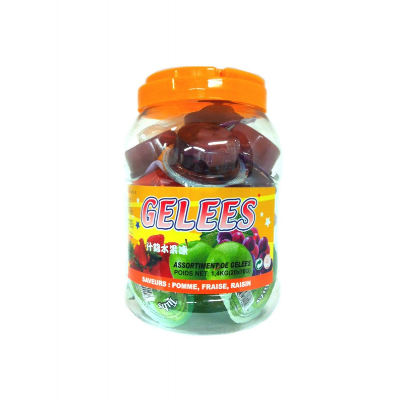 Assortiment de gelée  au fruits mélangé 70g x20