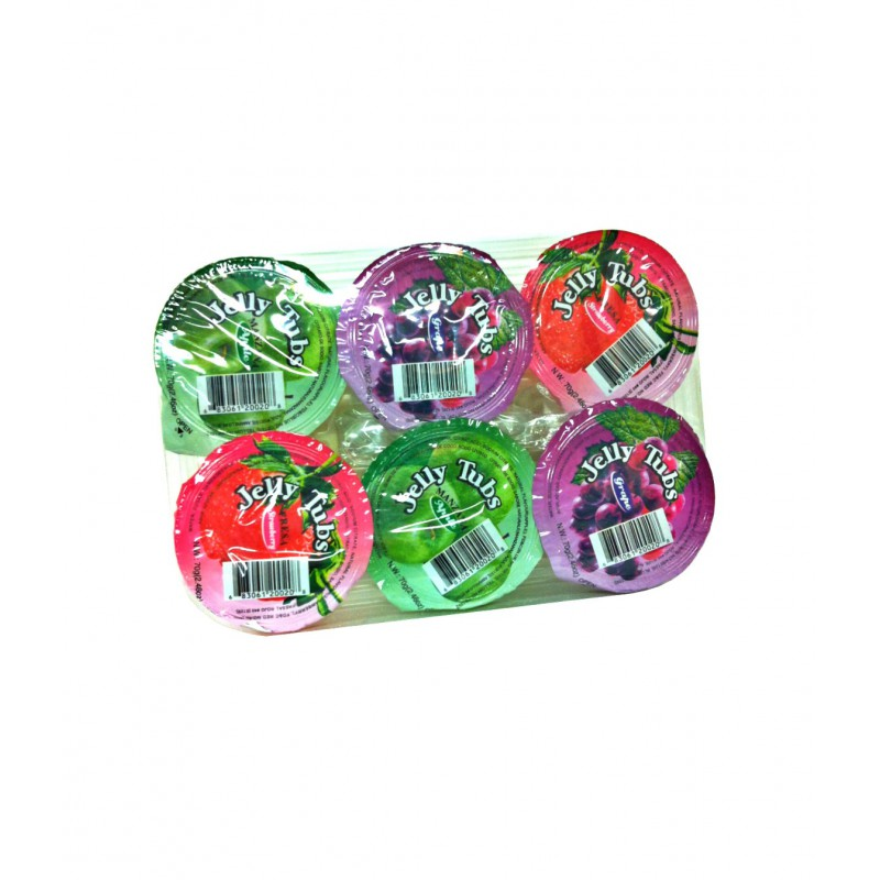 Assortiment de gelée  au fruits mélangé 70g x6