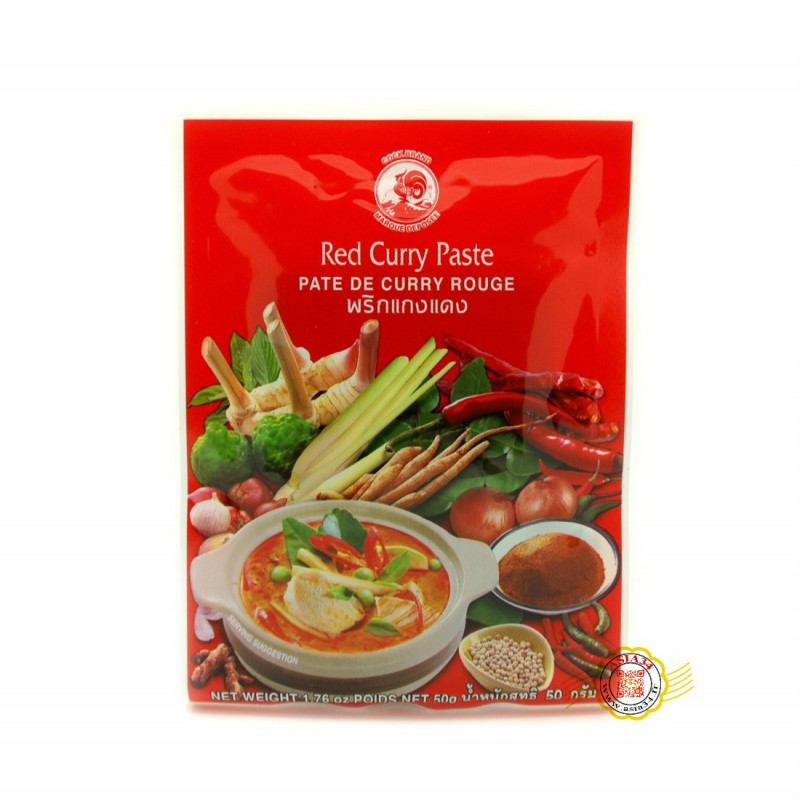 Pâte de Curry Rouge Cock 50g
