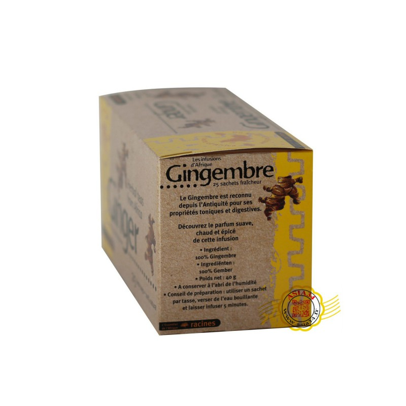 Infusion Afrique. gingembre. 40g