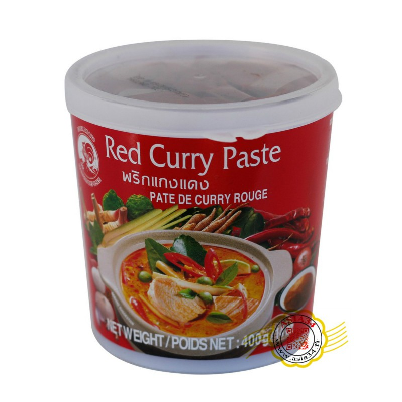 Pate de curry rouge . 400g