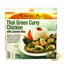 Poulet Curry Vert au Riz Thai Jasmin Authentic Asia 350g