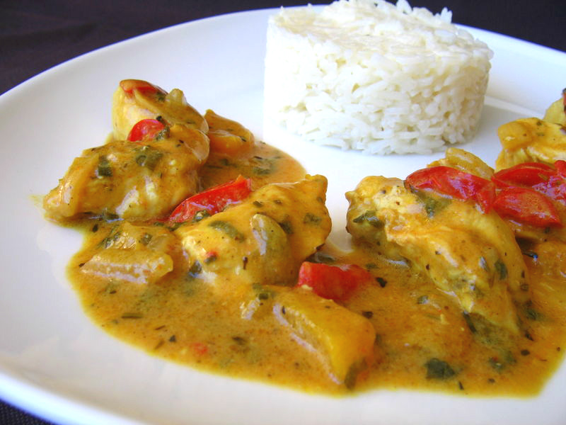 Poulet au curry asia34 for Marinade poulet barbecue curry